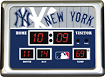 Team Sports America - New York Yankees Scoreboard Alarm Clock