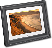 "Insignia� - 10"" Widescreen LCD Digital Photo Frame - Black/Espresso"